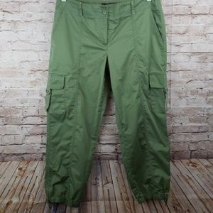 Talbots Green Cropped Cargo Pants 14